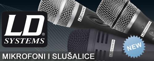 LD Systems mikrofoni, slusalice
