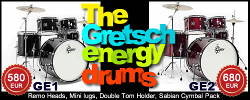 New Gretsch - Energy GE1 and GE2 drums