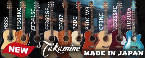 Takamine new japanese guitars