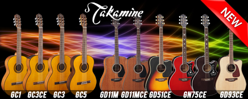 Takamine new guitars